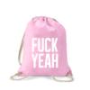 fuck-yeah-turnbeutel-bedruckt-rucksack-stoffbeutel-hipster-beutel-gymsack-sportbeutel-tasche-turnsack-jutebeutel-turnbeutel-mit-spruch-turnbeutel-mit-motiv-spruch-für-frauen-pink-rosa