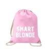 smart-blonde-turnbeutel-bedruckt-rucksack-stoffbeutel-hipster-beutel-gymsack-sportbeutel-tasche-turnsack-jutebeutel-turnbeutel-mit-spruch-turnbeutel-mit-motiv-spruch-für-frauen-pink-natur-schwarz-rosa