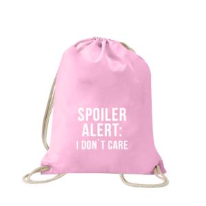 spoiler-alert-i-dont-care-turnbeutel-bedruckt-rucksack-stoffbeutel-hipster-beutel-gymsack-sportbeutel-tasche-turnsack-jutebeutel-turnbeutel-mit-spruch-turnbeutel-mit-motiv-spruch-für-frauen-pink-rosa